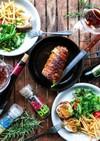 豚スライス肉ロール焼き