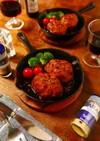 生姜とペパーのソース煮込み和風ハンバーグ