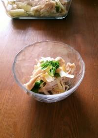 セロリと鶏胸肉の簡単サラダ おつまみにも