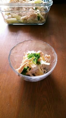 セロリと鶏胸肉の簡単サラダ
