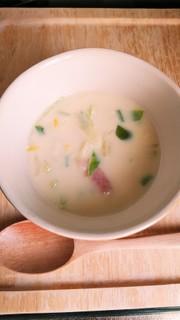 簡単♪野菜たっぷり食べるコーンスープ♪の写真