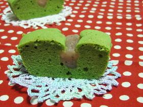和スイーツ♪桜と抹茶のしっとり春色ケーキ