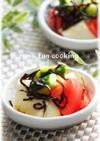 トマト・胡瓜・長芋のわさび塩昆布和え