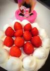 雛祭りにも♪定番のショートケーキ