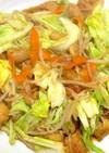油不使用の甘酢鶏皮と野菜炒め