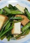 小松菜と厚揚げ炒めポン酢かけ