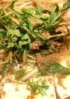 俺の簡単、豚肉の旨味たっぷり辛味噌胡麻鍋