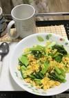 炒り卵と小松菜の炒め物