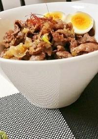ピリ辛万能ダレで、簡単牛肉炒め丼