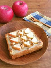りんごとくるみのハニートースト♪の写真