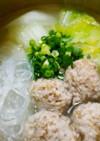 パパッと簡単!鶏団子と白菜の鍋