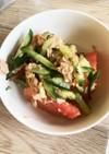 トマト きゅうり ツナ中華風サラダ