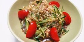 さっぱり美味しい♪簡単ツナの春雨サラダ
