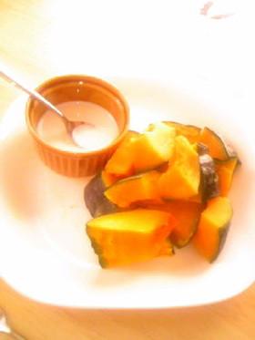 ヘルシーおやつ♪レンジでチンかぼちゃ