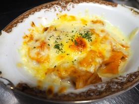 ベーコンと玉葱、じゃが芋のチーズ焼き