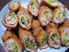 ◆キャベツの豚肉巻きフライ◆
