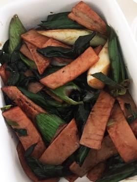 葉玉ねぎの炒め物