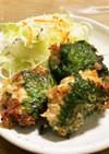 千切りキャベツと豆腐と鳥ミンチの大葉揚げ