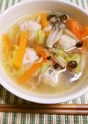 優しいお味♫夜食に嬉しい簡単鶏団子スープ