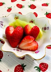 可愛いさUP♪イチゴの飾り切り/ハート型