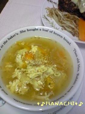 ♪余った野菜で☆即席簡単たまごスープ♪