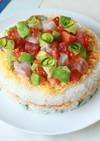 ひな祭りに♪液体塩こうじでケーキ寿司★