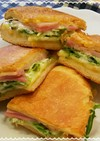 水菜のチーズトーストサンド