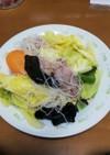 肉野菜ビーフン炒め
