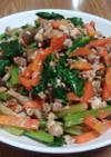 野菜モリモリ3種そぼろ炒め