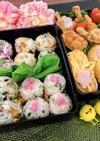 唐揚げと手まり寿司・いなり寿司✿弁当