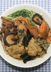 カレー干し鮭と乾燥食材でブイヤベース風鍋