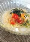 お家でも食べたい☆素麺で韓国風冷麺
