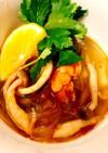365スープ⑦ トムヤムクン風春雨スープ