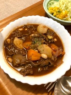 牛薄切り肉の赤ワイン煮~デミグラス風味~