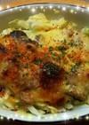 キャベツと鯖のカレーマヨ焼き