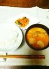 牛乳ごま味噌坦々スープ
