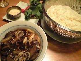 コレは美味!!茄子とジャコの冷やし麺