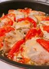 トマトと豚ヒレ肉のオーブン焼き