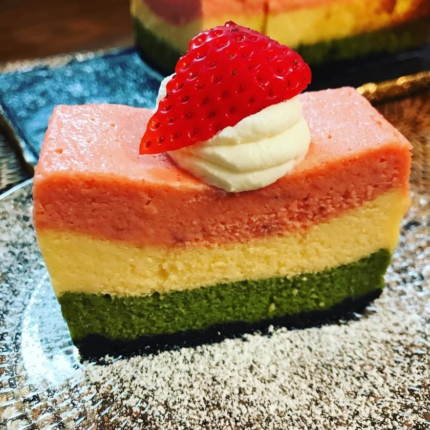 ひな祭り 三色 ベイクドチーズケーキ