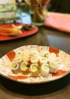 キュウリとベビーチーズの竹輪ピンチョス