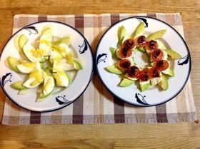 アボカドとモッツァレラチーズのサラダ2種