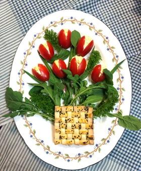 ウズベキスタン♡オゾタさんの花束サラダ