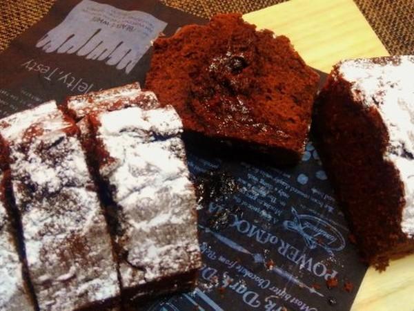 フォンダショコラ風チョコパウンドケーキ♪