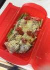 ルクエで7分豚バラとアスパラのチーズ焼き