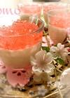 春爛漫!桜リキュールのレアチーズケーキ