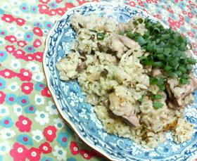 ✿皐月に❀椎茸と鶏肉の✿さわやか新茶飯