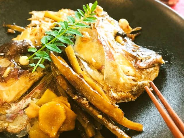 鯛 の あら 炊き の 作り方