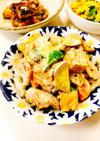鶏肉・厚揚げ・野菜のホットサラダ