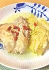 鳥もも肉とキャベツの参鶏湯風