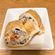 豆腐と挽き肉の五目巾着煮の写真